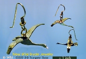 3-D Trumpeter Swan earrings
