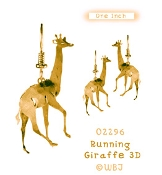 3-D Giraffe earrings