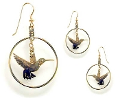 Flying Hummer Hoop earrings