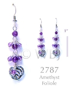 Amethyst Foliole Earrings