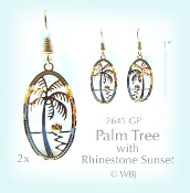Wild Bryde Palm Tree Earrings