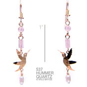 Dainty Beaded Hummer Earrings