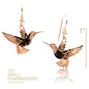 Hanging Hummingbird Earrings