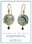 Dolphin with Lapis Earrings
