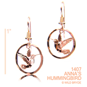 Anna's Hummingbird Earrings