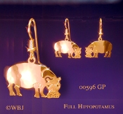Hippo Earrings