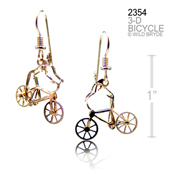 3-D Bicyclist Earring