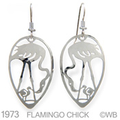 Flamingo And Chick Earrings