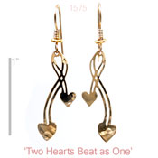 Two Hearts Beat As One Earrings