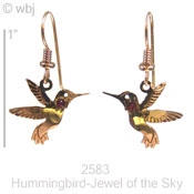 Swarovski Rhinestone Hummingbird Earrings