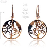 Owl Night Flight Earrings