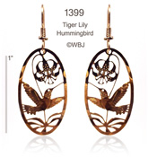 Tiger Lily Hummingbird Earrings