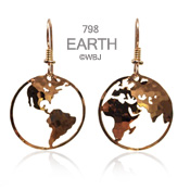 Large Earth Earrings