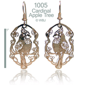 Cardinal And Apple Tree Earrings