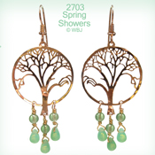 Wild Bryde Spring Showers Oak Tree Earrings