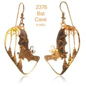 3-D Bat Cave Earrings