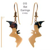 Flying Bat Earrings