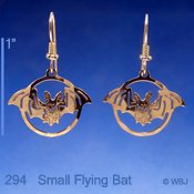 Small Bat Earrings