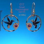 Hummer With Garnet Earrings