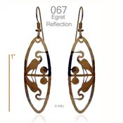 Egret Reflection Earrings