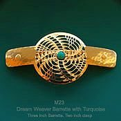 Dreamweaver Barrette with Turquoise