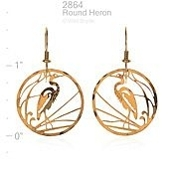 Wild Bryde Jewelry Round Heron Earrings