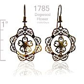 Wild Bryde Filigree Dogwood Earrings
