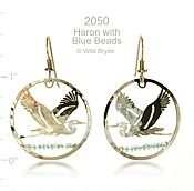 Blue Heron Earrings
