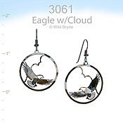 Eagle with Cloud Earrings