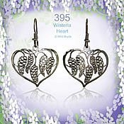 Wisteria Heart Earrings