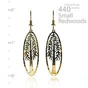 Small Redwood Earrings