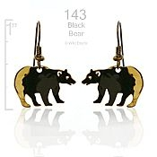 North American Black Bear Earrings