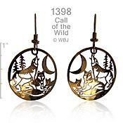 Call of the Wild Wolf Earrings