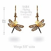 Flying Dragonfly Earrings