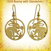 Bunny and Dandelion Earrings
