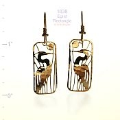 Egret Rectangle Earrings