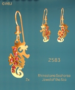 Swarovski Rhinestone Seahorse earrings
