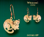 Weasel Earrings