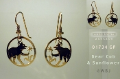 Bear Cub Earrings