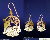 Deer with Fawn Earrings