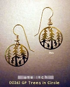 Trees in Circle Earrings