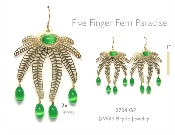 Beaded Fern Earrings