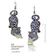 Rainforest Jaguar Earrings