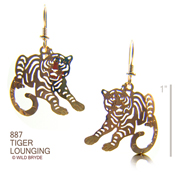 Tiger Lounging Earrings