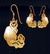 Himalayan Cat Earrings