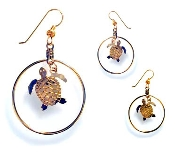 Sea Turtle Hoop Earrings