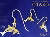 Playful Dolphin Earrings