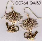 Upside down Chickadee Earrings