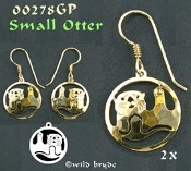 Small Sea Otter Earrings