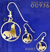 Round Sea Lion Earrings